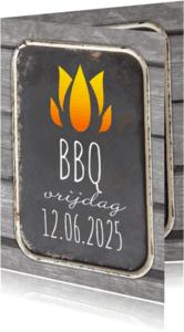 Uitnodigingen - BBq op een dienblad-isf