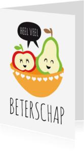 Beterschapskaarten - Beterschap appel peer lief