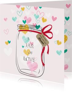 Beterschapskaarten - Beterschap Jar of love - SV