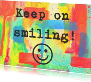 Beterschapskaarten - Beterschap Keep on Smiling IW