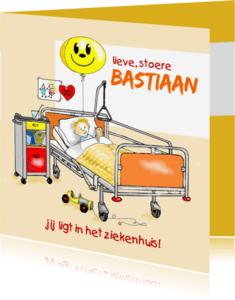 Beterschapskaarten - Beterschap ziekenhuis jongetje