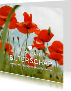 Beterschapskaarten - beterschapskaart Klaprozen - LB