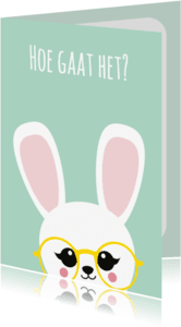 Beterschapskaarten - Beterschapskaart konijn