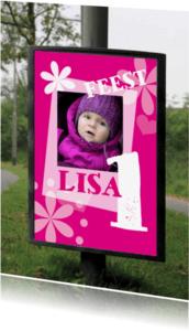 Kinderfeestjes - billboard roze meisje