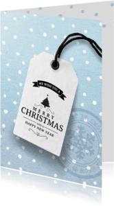 Zakelijke kerstkaarten - Blauwe zakelijke kerstkaart 2018