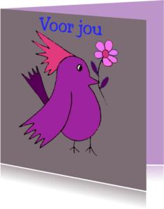 Dierenkaarten - Bloem voor je