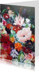 Bloemenkaarten - Bloemen kaart v schilderij Rijk