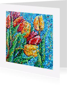 Bloemenkaarten - Bloemen tulpen confetti - AW