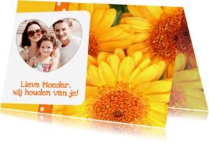 Moederdag kaarten - Bloemenkaart Gerbera Moeder - BK