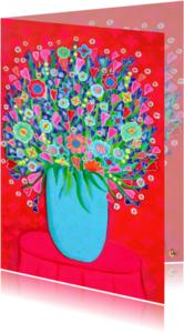 Bloemenkaarten - Bloemenkaart Kleur PA