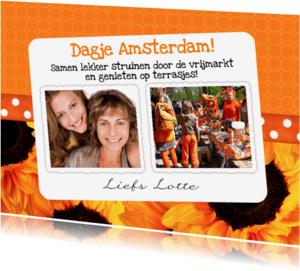 Uitnodigingen - Bloemenkaart Koningsdag - BK