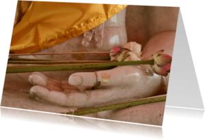 Religie kaarten - Boeddha hand met lotus