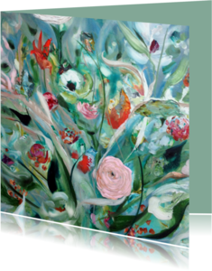 Bloemenkaarten - Boeket Schilderij print vk