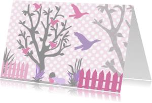 Dierenkaarten - Bomen en vogels