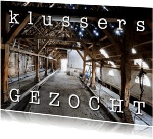 Verhuiskaarten - Bouwval - Klussers gezocht
