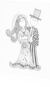 Trouwkaarten - Bruidspaar