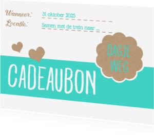 Kaarten mailing - Cadeaubon dagje weg - DH
