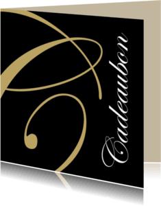 Kaarten mailing - Cadeaubon goud vierkant