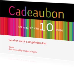 Kaarten mailing - Cadeaubon kleurig  liggend
