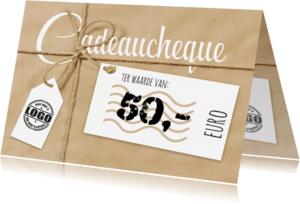 Kaarten mailing - Cadeaucheque met strik-isf