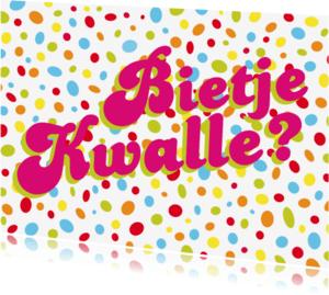 Carnavalskaarten - Carnavalskaart Bietje Kwalle
