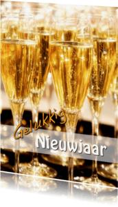 Nieuwjaarskaarten - CHAMPAGNE Gelukkig Nieuwjaar