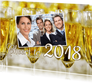 Nieuwjaarskaarten - Cheers to 2018 bedrijfsfoto 2 - OT