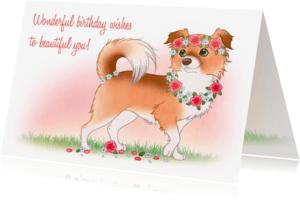 Verjaardagskaarten - Chiwowy Verjaardagskaart meisje