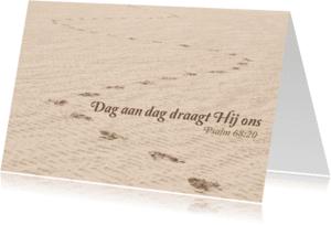 Religie kaarten - Christelijke kaart Hij draagt jou