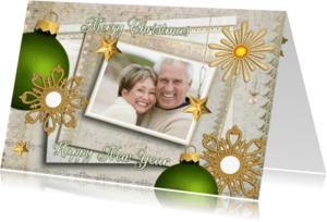 Kerstkaarten - Christmas in gold - picture SG