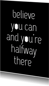 Coachingskaarten - Coaching quote zwart wit letters