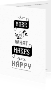 Coachingskaarten - Coachingskaart do more of what makes you happy