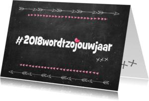 """Coachingskaarten - """"Coachingskaartje hashtag 2018 wordt jouw jaar - SD"""""""