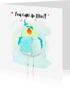 """Coachingskaarten - """"Coachingskaartje tropische vogel jij kan dit - SD"""""""