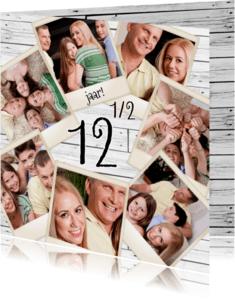 Jubileumkaarten - Collage 12 1/2 jaar - BK