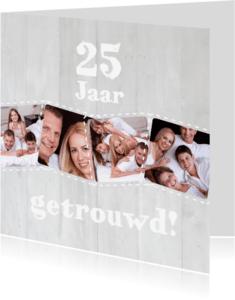 Jubileumkaarten - Collage 25 jaar 7 foto's - BK