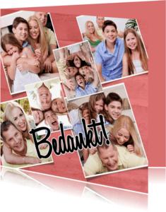 Bedankkaartjes - Collage Bedankt - BK