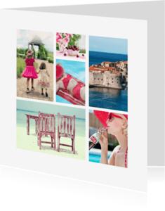 Vakantiekaarten - Collage kaart zomervakantie - DH