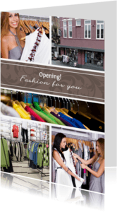 Uitnodigingen - Collage Opening 5 foto's - BK