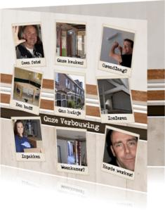 Verhuiskaarten - Collagekaart verbouwing - BK