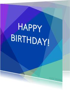 Verjaardagskaarten - COLORFUL BIRTHDAY