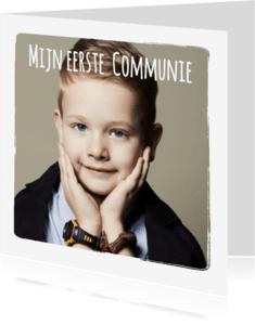 Communiekaarten - Communie 3 foto's collage - BK