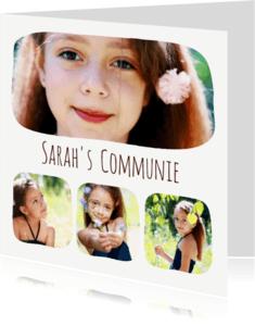 Communiekaarten - Communie collage 5 foto's - BK
