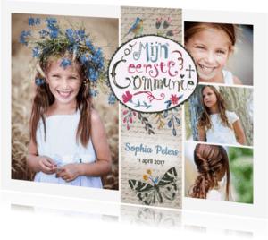 Communiekaarten - Communie collage uitnodiging