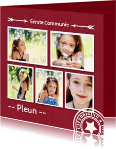Communiekaarten - Communie fotocollage - DH