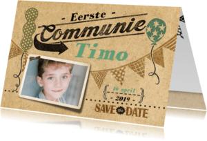 Communiekaarten - communie jongen stempels