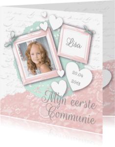 Communiekaarten - Communie meisje vintage foto