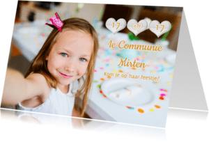 Communiekaarten - Communiefeest datum en foto - RB