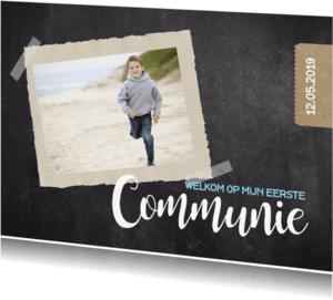 Communiekaarten - Communiekaart krijt foto