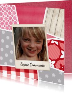 Communiekaarten - Communiekaart met Polaroids - DH